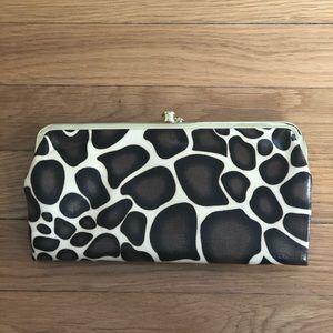 Giraffe print wallet clutch